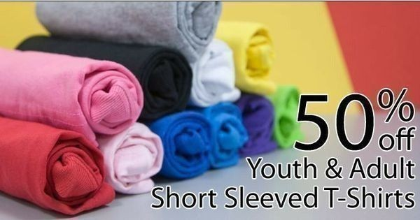 Hobby Lobby has youth & adult short sleeved t-shirts 50% off this week ...