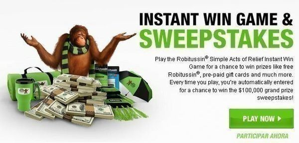 Robitussin Simple Acts of Relief Instant Win Game &
