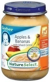 Gerber Lil' Bits Baby Cereal 3 Flavor Variety Bundle: (1) Lil' Bits Oatmeal Banana Strawberry, (1) Lil' Bits Whole Wheat Cereal Apple Blueberry, (1) Lil' Bits Oatmeal Apple Cinnamon Cereal, 8 Oz.