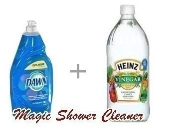 Vinegar dawn magic shower cleaner for Vinegar bathroom cleaner