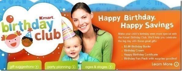 Kmart birthday kids club free 5 gift card more bookmarktalkfo Images