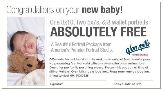Olan Mills: FREE NEW Baby Portrait Package (Up to 6 months in Age