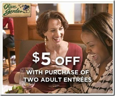 Olive Garden 5 Off 2 Adult Entrees Through April 4th