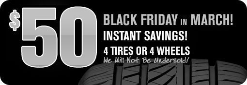 Discount Tire Direct: $50 Instant Discount on Set of 4 Tires