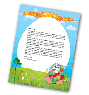 Free personalized easter bunny letter for Letter to easter bunny template