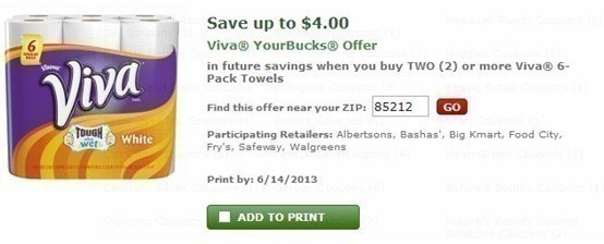Walgreens: Viva 6 pk Paper Towels ONLY $2.49 with NEW Catalina (Starts Today!)