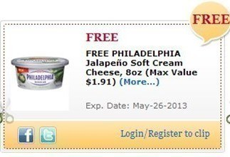 Commissary Shoppers: FREE Philadelphia Jalapeño Soft Cream Cheese 8 oz. (thru 5/26)