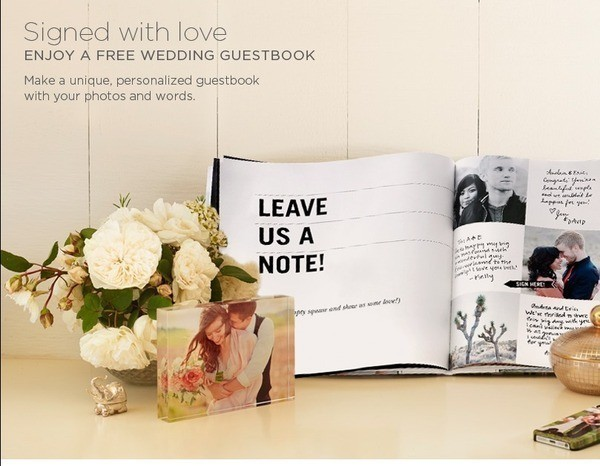 shutterfly free wedding guestbook 40 value just pay ship