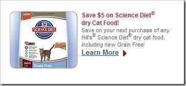 $5 off Hill's Science Diet Dry Cat Food (NEW Link) + *HOT ...