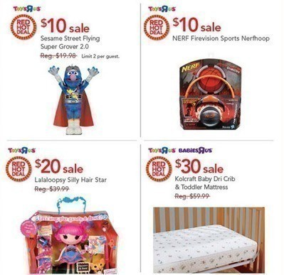 Toys R Us Red Hot Deals For 924 Lalaloopsy Crib Mattress More