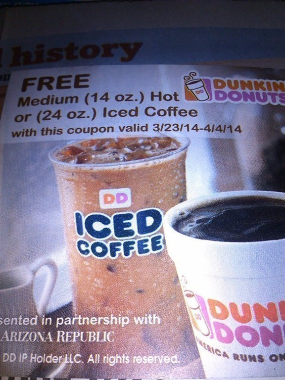 Free Dunkin Donuts Medium Hot Or Iced Coffee The Centsable Shoppin