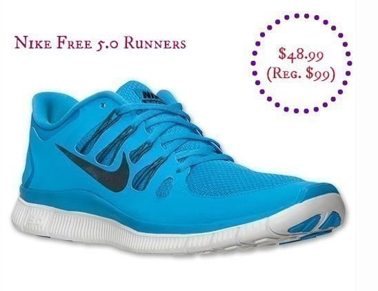 online retailer 218e5 b80f2 If you need to pick up Running Shoes, Finish Line has the Men s Nike FREE  5.0 Runners for just  48.99 (Reg.  99.99)….. sizes 9.5 – 13, and Vivid Blue  ONLY.