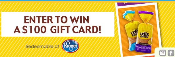 udi s gift card giveaway enter to win a 100 kroger gift card 50 winners. Black Bedroom Furniture Sets. Home Design Ideas