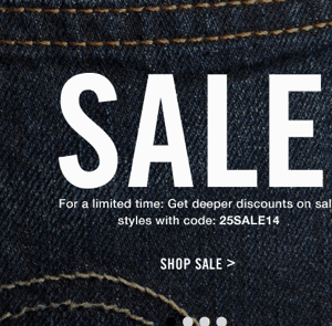 Levi's:  30% off Sale Styles + FREE Shipping {6/26}
