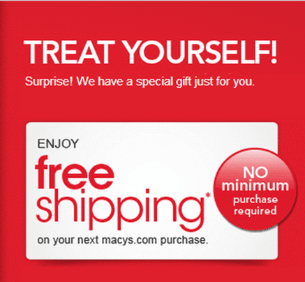 Free shipping coupon codes macys