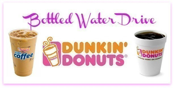 Dunkin Donuts Bottled Water Drive