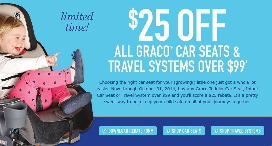 The Mail In Rebate Is Valid For All Car Seats Travel Systems Over 99 Through October 31st