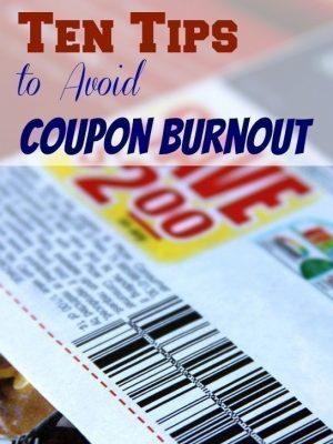 Ten Tips to Avoid Coupon Burnout