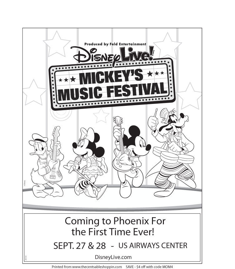 Disney Live! Mickey's Music Festival Coloring Page - The CentsAble Shoppin