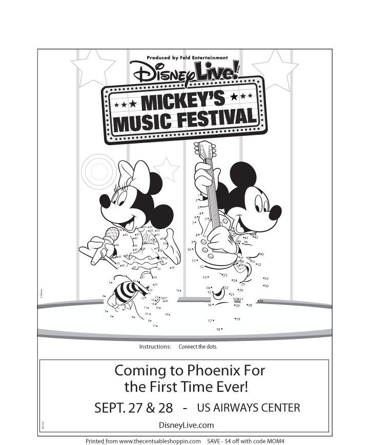 Disney Live! Mickey's Music Festival Connect the Dot Activity - The CentsAble Shoppin