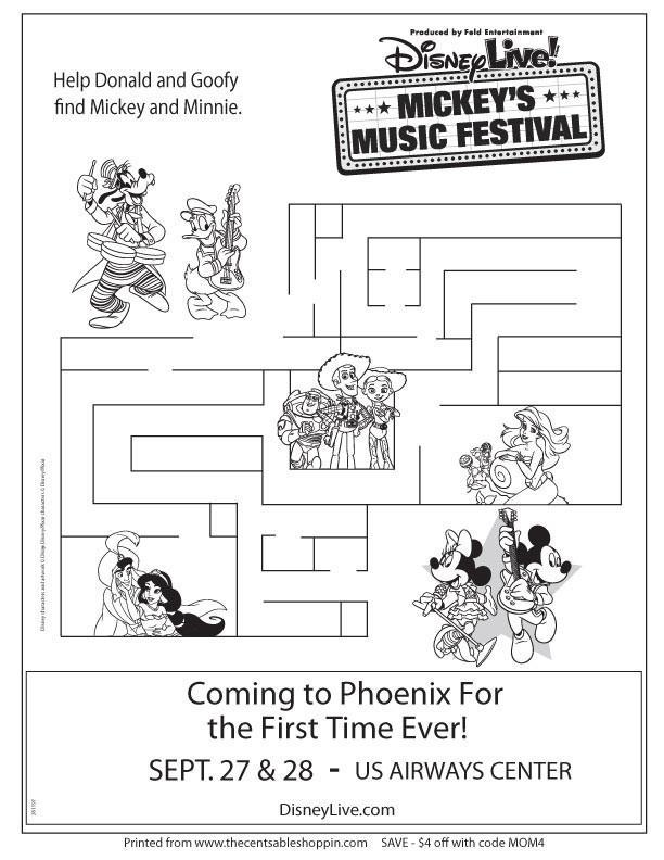 Disney Live! Mickey's Music Festival Maze Activity - The CentsAble Shoppin
