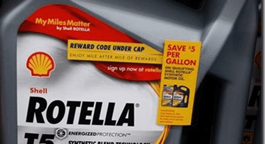 Walmart Shell Rotella T5 Synthetic Blend 1 Gallon Engine