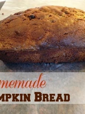 Homemade Pumpkin or Pumpkin Chocolate Chip Bread