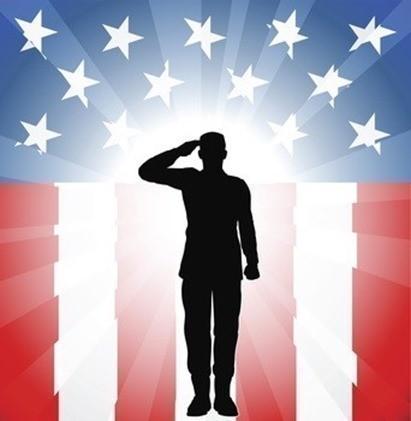 Patriotic soldier salute
