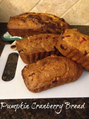 Recipe | Pumpkin Cranberry Bread