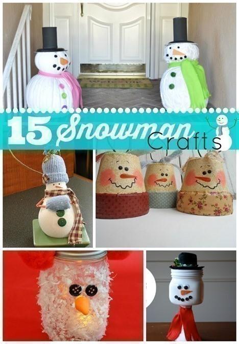 15 Snowman Crafts
