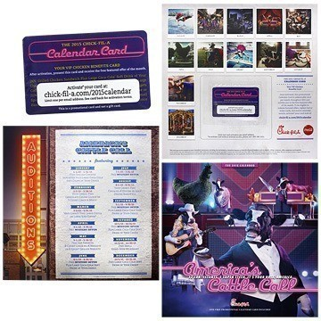 Chick Fil A Calendar.Chick Fil A America Rsquo S Cattle Call 2015 Coupon Card Amp