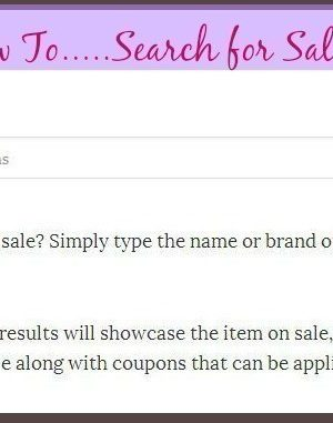 How to Search for Sale Items