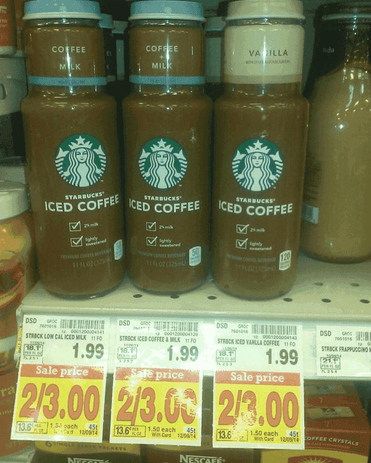 Starbucks iced coffee 1 coupon