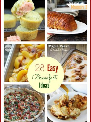 28 Easy Holiday Breakfasts {Pancakes, Quiche, Crock Pot Casseroles & More}