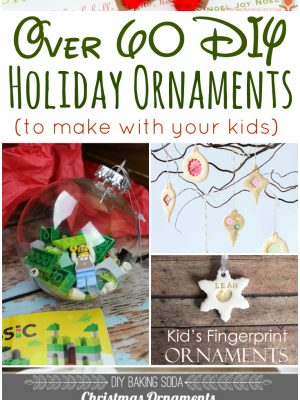 Over 60 DIY Holiday Ornaments To Make with your Kids