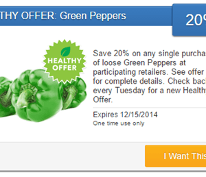 Fresh Produce Coupon | 20% off Green Peppers {+ Slow Cooker Stuffed Peppers}