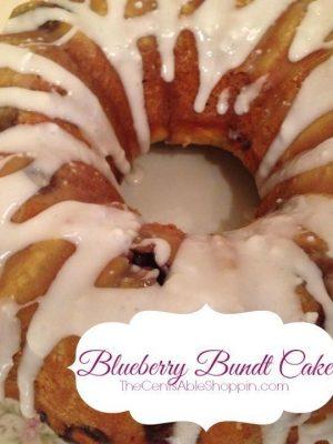 Easy Fresh Blueberry Bundt Cake