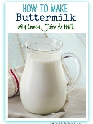 Buttermilk Substitute – How to Make your Own Buttermilk