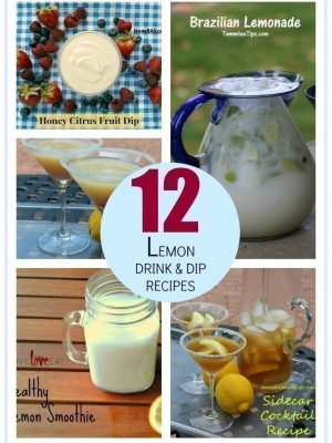 12 Drink and Dip Recipes to Use ALL Those Lemons