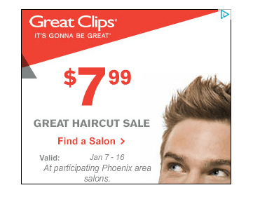 Great clips haircut sale near me