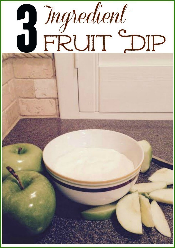 Recipe   Easy 3-Ingredient Fruit Dip