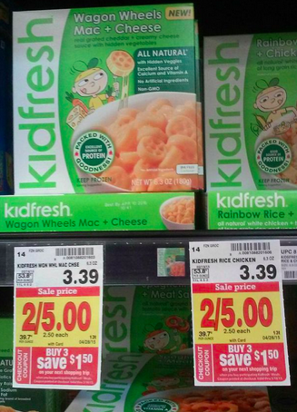 photo regarding Frys Printable Coupons called Kidfresh Foods Printable Coupon codes Pay back as very low as $.50 at