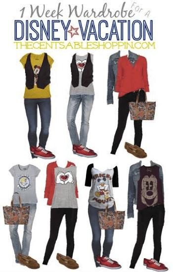 1 Week Wardrobe Ideas for a Disney Vacation {+ 18 Ways to Save at Disney}