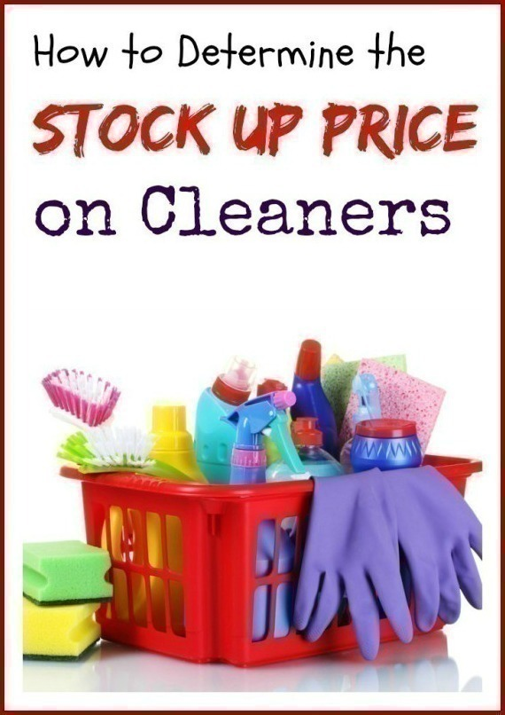 How to Determine the Stock Up Price on Cleaning Supplies