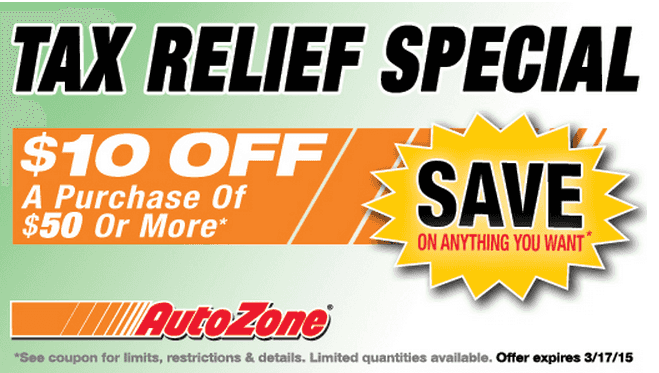 Save with an AutoZone coupon and 4 printable coupons. Get 10 AutoZone coupon codes and sales for car parts and accessories. Today's top deal: Up to 5% Off Total Purchase With a Discount Gift Card.