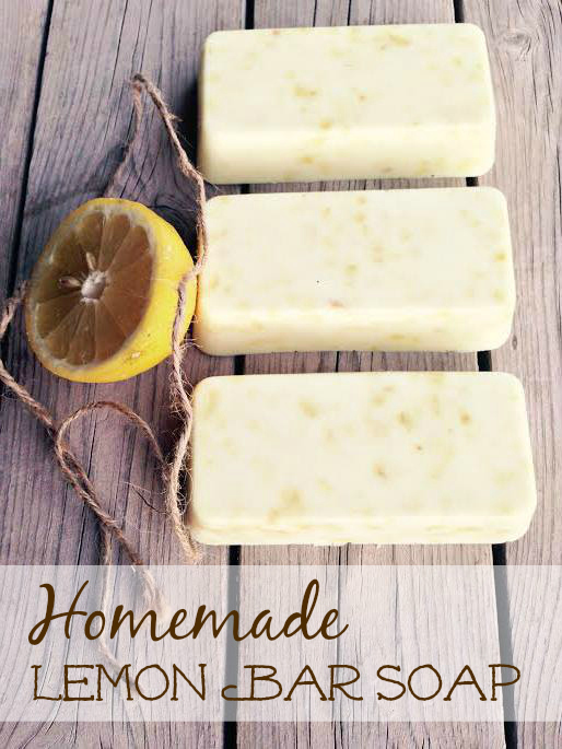 Homemade Lemon Bar Soap {Great Mother's Day Gift Idea}