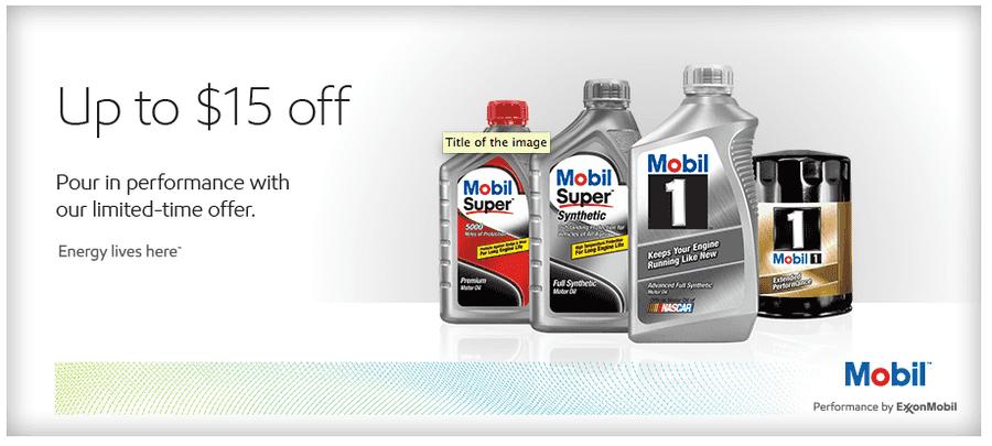 Amazon mobil 1 5w 30 synthetic motor oil 5 quart just for Mobil motor oil rebate