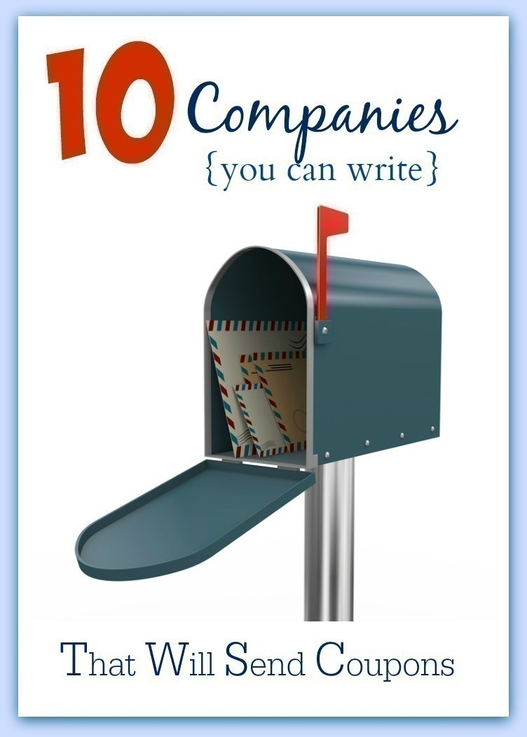 10 Companies to Write in Request of FREE Product Coupons