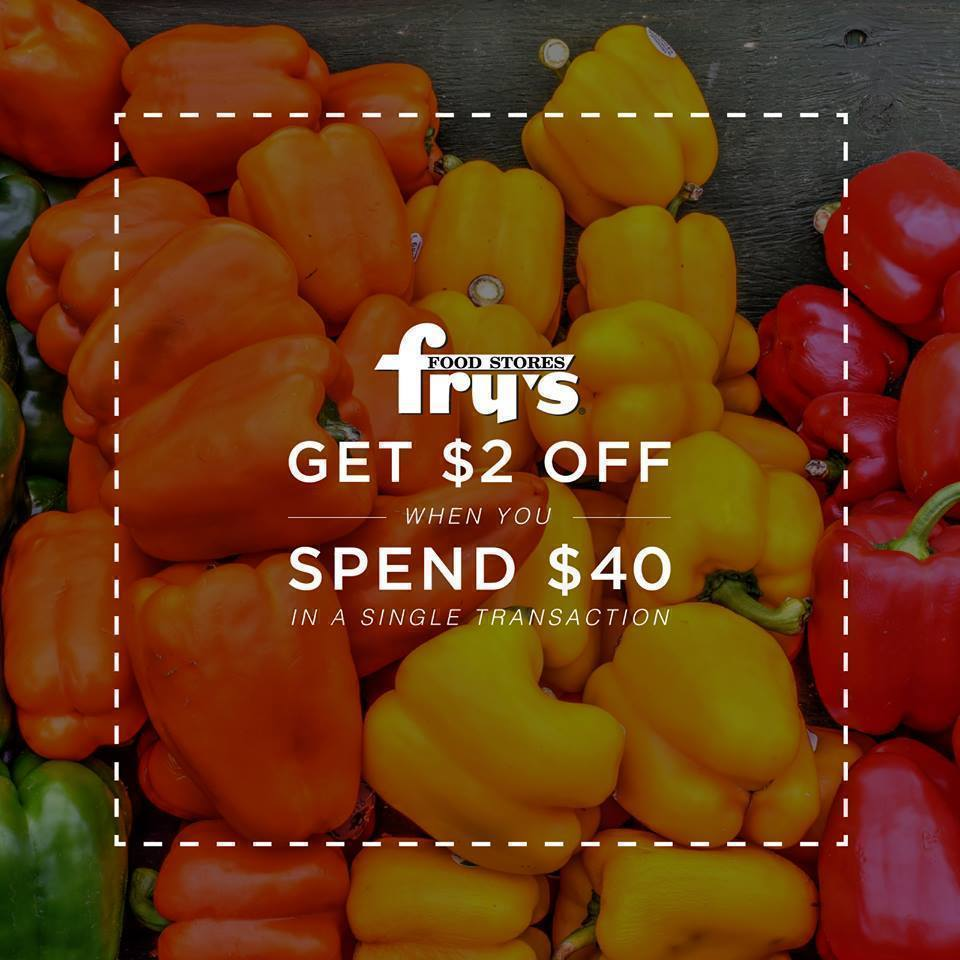 Fry's: $2 off $40 Purchase Coupon – Load to Card