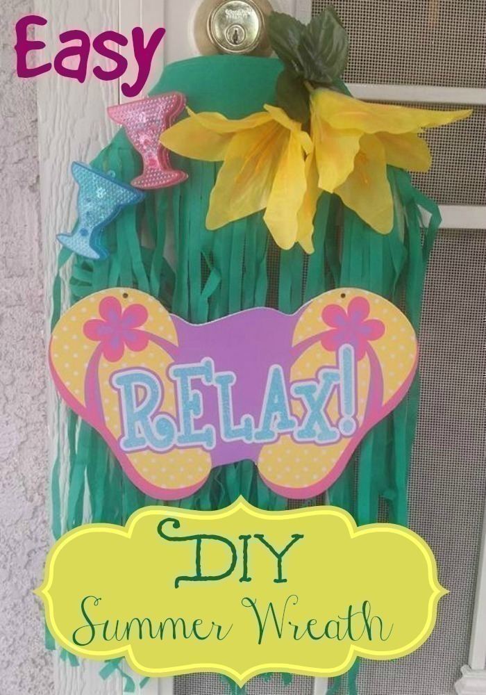 Easy DIY Summer Wreath - Dollar Tree ~ TheCentsAbleShoppin.com